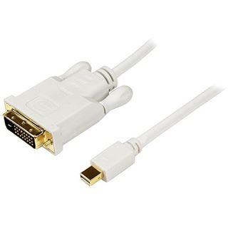 (€14,63*/1m) 3.00m Startech Anschlusskabel DVI 24+1 Stecker auf Mini Displayport Stecker Weiß vergoldet