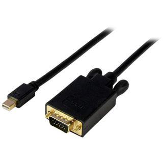 (€33,22*/1m) 0.90m Startech Displayport Adapterkabel Mini Displayport Stecker auf VGA 15pol Stecker Schwarz