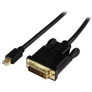 (€42,11*/1m) 0.90m Startech Adapterkabel aktiv DVI 24+1 Stecker auf Mini Displayport Buchse Schwarz vergoldet