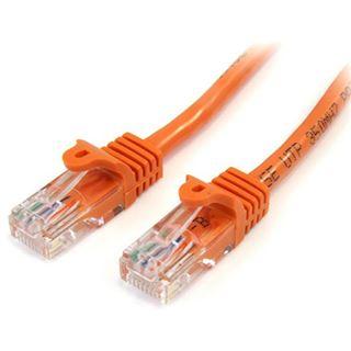 (€3,90*/1m) 1.00m Startech Cat. 5e Patchkabel U/UTP RJ45 Stecker auf RJ45 Stecker Orange