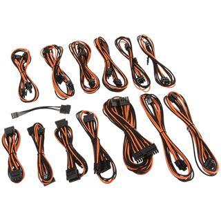 CableMod SE-Series KM3, XM2, XP2/3, FL2, XFX Cable Kit - schwarz/orange