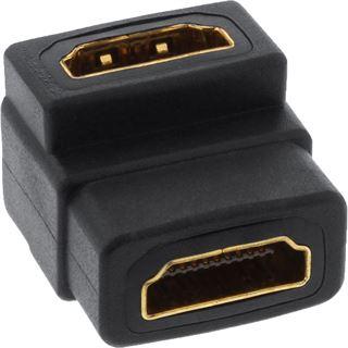 InLine HDMI Adapter, HDMI A Buchse /Buchse, gewinkelt