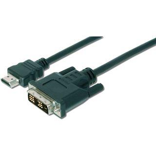 (€3,95*/1m) 2.00m Digitus HDMI Adapterkabel HDMI-Stecker auf DVI 18+1 Stecker Schwarz