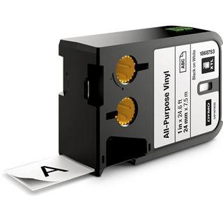 Dymo XTL Vinyl Permanent 24mm schwarz auf transparent