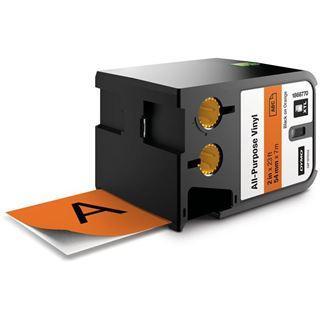Dymo XTL Vinyl Permanent 54mm schwarz auf orange