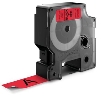 Dymo D1 19mm x 7m schwarz auf rot