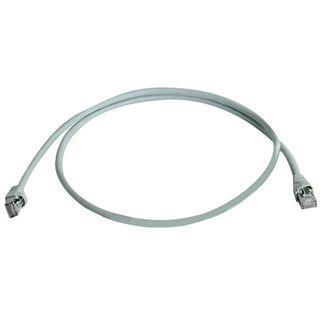 (€6,90*/1m) 1.00m Telegärtner Cat. 6a Patchkabel S/FTP PiMF RJ45 Stecker auf RJ45 Stecker Grau halogenfrei