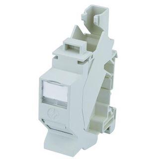 Telegärtner Tragschienen-Verbinder TS45 AMJ-S inkl. AMJ-S-Modul Cat.6A T568A