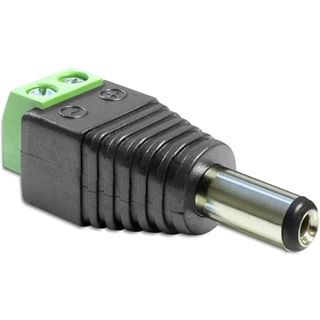 Delock Adapter Terminalblock 2Pin DC 2,1 x 5,5mm Stecker