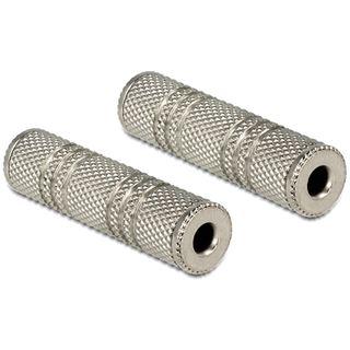 (€2,60*/1m) 1.50m Delock Audio Anschlusskabel Pro-Serie 3.5mm Klinken-Stecker auf 3.5mm Klinken-Stecker Silber verchromt / vergoldet