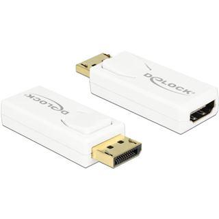 DisplayPort Delock Adapter DP -> HDMI 4K Passiv weiß