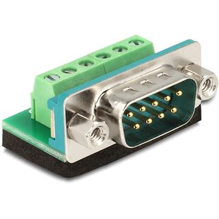 Delock Adapter Terminalblock 6Pin -> D-Sub9 Stecker