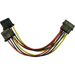 Inter-Tech Adapter 1x 4pin -> 2x 4pin Molex 0,15m