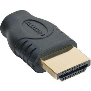 InLine HDMI Adapter, HDMI A Stecker auf Micro HDMI D Buchse, vergoldete Kontakte