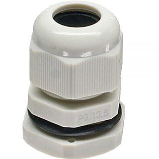 InLine Kabeldurchführung PG 13.5 Nylon IP68 6-12mm, grau, 10 Stück