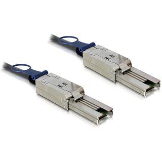 (€46,90*/1m) 1.00m Delock SAS Anschlusskabel SFF-8088 Stecker auf SFF-8088 Stecker Schwarz