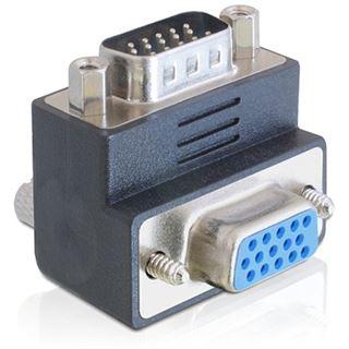 DeLOCK VGA Adapter Delock D-Sub15 -> D-Sub15 St/Bu, 270 gewinkelt