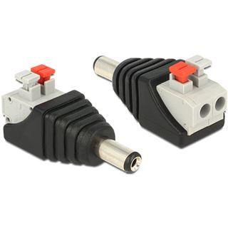 DeLOCK Adapter Terminalblock mit Drucktaste auf DC 2,1 x 5,5 m