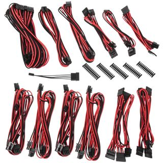 BitFenix Alchemy 2.0 PSU Cable Kit BQT-Series DPP schwarz/rot