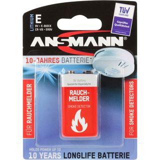 Ansmann Lithiumbatterie für Rauchmelder 9V-E-Block longlife 5021023-01