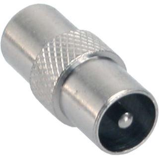 InLine Antenne Koaxial Verbinder Stecker / Stecker Metall