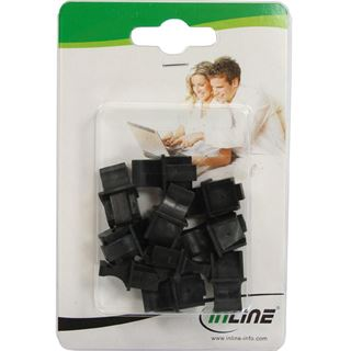 InLine Staubschutz für RJ45 Buchse Farbe: schwarz 10er Blister