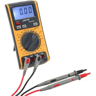 InLine Multimeter 3-in-1 mit RJ45 / RJ11 Kabeltester und Batterietester