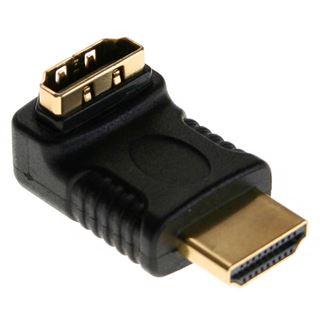 InLine HDMI Adapter Stecker/Buchse gewinkelt schwarz