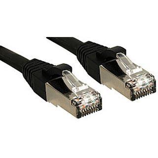 (€4,95*/1m) 2.00m Lindy Cat. 6 Patchkabel S/FTP PiMF RJ45 Stecker auf RJ45 Stecker Schwarz halogenfrei