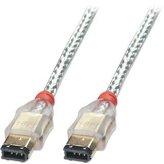 (€3,89*/1m) 10.00m Lindy FireWire400 Anschlusskabel Premium-Line 6pol Stecker auf 6pol Stecker Silber