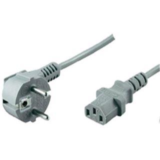 (€1,78*/1m) 5.00m ShiverPeaks Stromkabel Basic Line Schuko Stecker auf Kaltgeräte Stecker C13 Grau