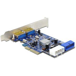 Delock PCIe 2 x Multiport USB 3.0 + eSATAp