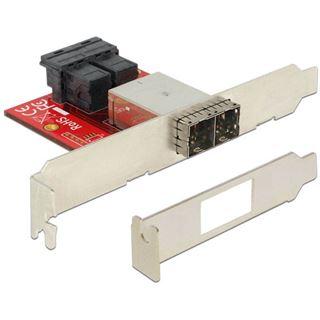 Delock Adapter 2 x Mini SAS HD SFF 8643 Buchse