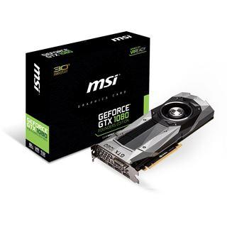 8GB MSI GeForce GTX 1080 Founders Edition Aktiv PCIe 3.0 x16 (Retail)