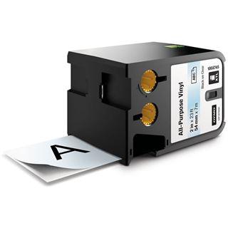 """Dymo XTL 2"""" (54 mm) Allzweck-Vinyletikett, schwarz auf transparent"""