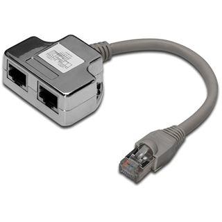 Digitus Patchkabel Adapter DIGITUS Cat5e 2x RJ45 -> 1x RJ45 0.19m