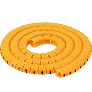 InLine Kabelmarkierer 3,6-7,4mm, Nr.0-9, 1000 Stück