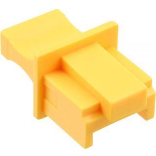InLine Staubschutz, für RJ45 Buchse, Farbe: gelb, 10er Blister