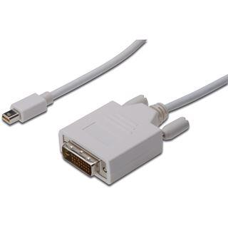 (€5,95*/1m) 2.00m ASSMANN Electronic GmbH Displayport Adapterkabel Mini Displayport Stecker auf DVI 24+1 Stecker Weiß