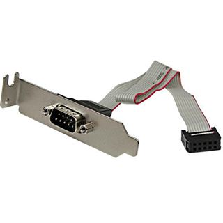 Startech 9-pin seriell Stecker auf 10-pin Mainboard Header LP Slotblech