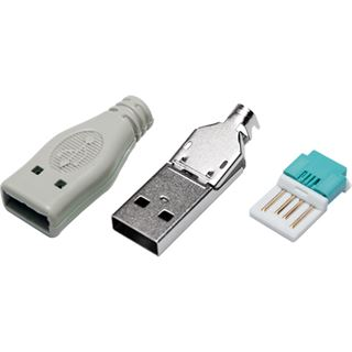 Logilink USB-Stecker Typ-A aus 3 Teilen m. Ummantelung