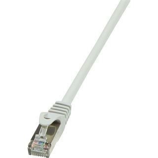 (€0,46*/1m) 15.00m LogiLink Cat. 5e Patchkabel F/UTP RJ45 Stecker auf RJ45 Stecker Grau Twisted Pair