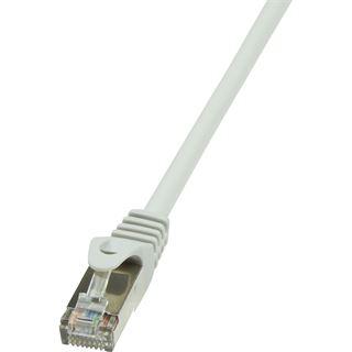 (€0,92*/1m) 7.50m LogiLink Cat. 5e Patchkabel SF/UTP RJ45 Stecker auf RJ45 Stecker Grau mit Arretierung / Twisted Pair