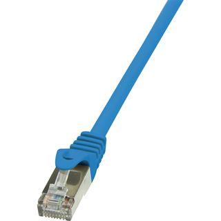 (€4,90*/1m) 1.00m LogiLink Cat. 5e Patchkabel SF/UTP RJ45 Stecker auf RJ45 Stecker Blau mit Arretierung / Twisted Pair