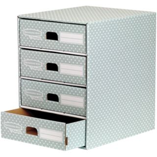 Fellowes BANKERS BOX STYLE Archiv-Schubladenbox, grün/weiß