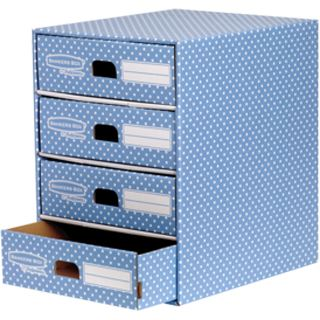 Fellowes BANKERS BOX STYLE Archiv-Schubladenbox, blau/weiß
