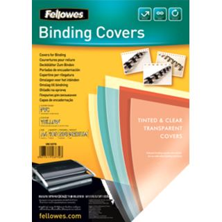 Fellowes Deckblatt, DIN A4, PVC, gelb-transparent, 0,20 mm