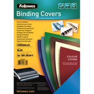 Fellowes Deckblatt Chromolux, gl�nzend, DIN A4, blau