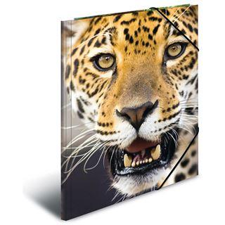 "Herma Eckspannermappe ""Leopard"", aus PP, DIN A4"