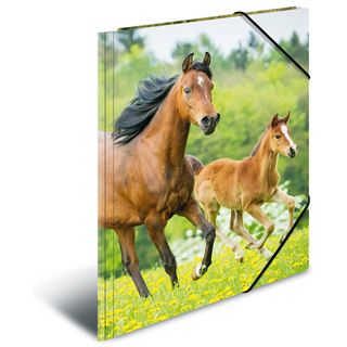 "Herma Eckspannermappe ""Pferde"", aus PP, DIN A3"